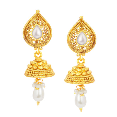 Sukkhi Glistening Gold Plated Pendant Set For Women-4
