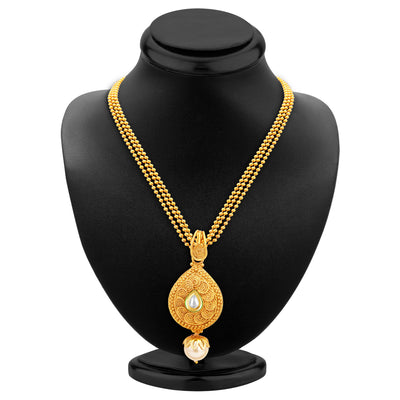 Sukkhi Fine Jalebi Gold Plated Kundan Pendant Set For Women-3