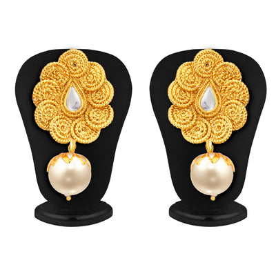 Sukkhi Fine Jalebi Gold Plated Kundan Pendant Set For Women-5
