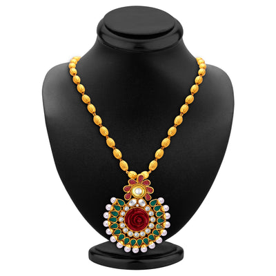 Sukkhi Fancy Gold Plated Pendant Set For Women-3
