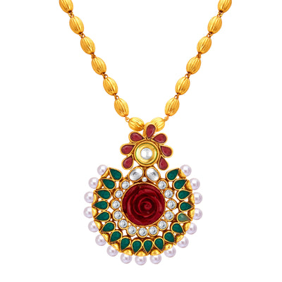 Sukkhi Fancy Gold Plated Pendant Set For Women-2