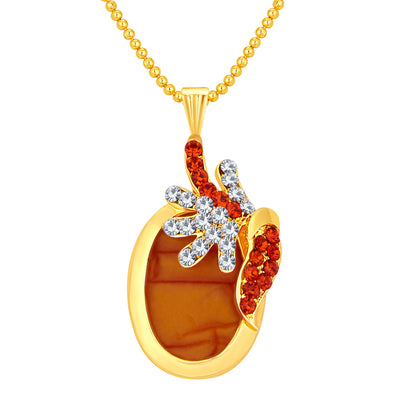 Sukkhi Pretty Gold Plated AD Pendant Set For Women-1