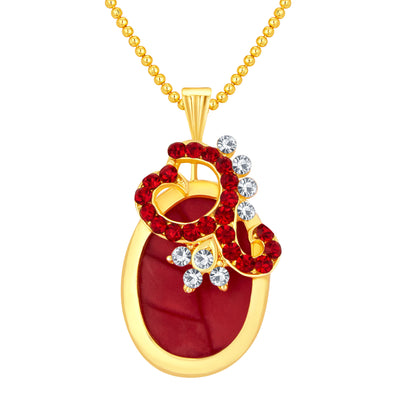 Sukkhi Fancy Gold Plated AD Pendant Set For Women-1