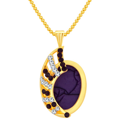 Sukkhi Intricately Gold Plated AD Pendant Set For Women-1