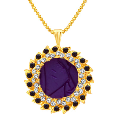 Sukkhi Glittery Gold Plated AD Pendant Set For Women-1