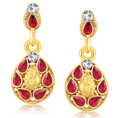Sukkhi Modern Gold Plated AD Reversible Pendant set For Women-4