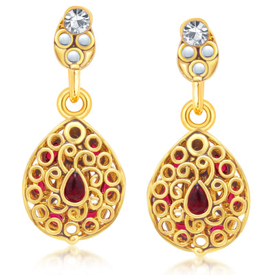 Sukkhi Modern Gold Plated AD Reversible Pendant set For Women-5
