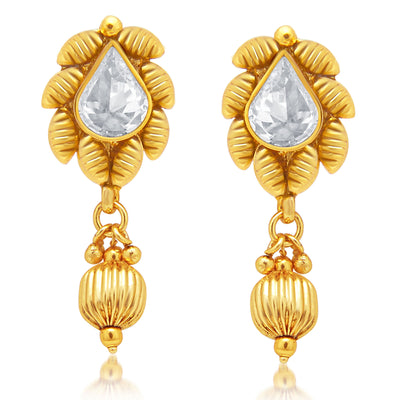 Sukkhi Artistically Gold Plated AD Pendant set For Women-2