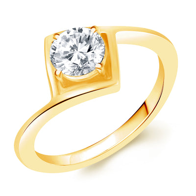 Sukkhi Stunning Gold Plated Solitaire Set of 4 Ladies Ring Combo For Women-3