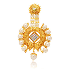 Sukkhi Glimmery Gold Plated AD Passa For Women