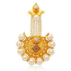 Sukkhi Sublime Gold Plated AD Passa For Women