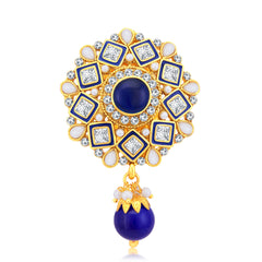 Sukkhi Dazzling Gold Plated AD Brooch For Women