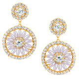 Sukkhi Incredible Gold Plated Earrings With AD and White Pearls