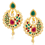 Sukkhi Wavy Gold Plated Earring for Women