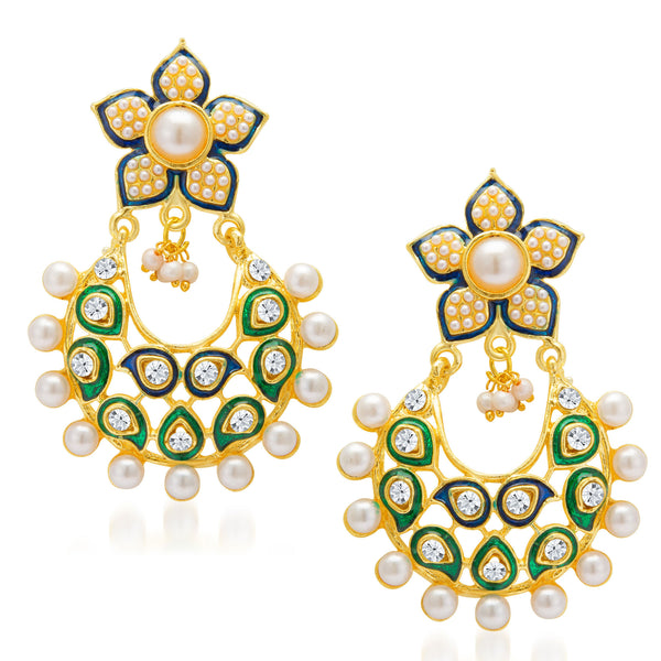 Sukkhi Marquise Gold Plated Earring for Women