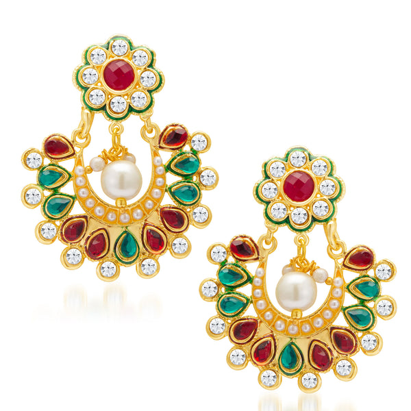 Sukkhi Shimmering Gold Plated Earring for Women