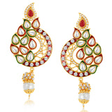 Sukkhi Alluring Gold Plated Australian Diamond Earrings
