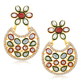 Sukkhi Amazing Gold Plated Australian Diamond Earrings