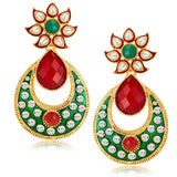 Sukkhi Attractive Gold Plated Australian Diamond Earrings