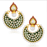 Sukkhi Blossomy Gold Plated Australian Diamond Earrings