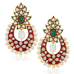 Sukkhi Designer Gold Plated Australian Diamond Earrings