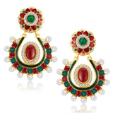 Sukkhi Enchanting Gold Plated Australian Diamond Earrings