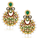 Sukkhi Astonish Gold Plated Australian Diamond Earrings
