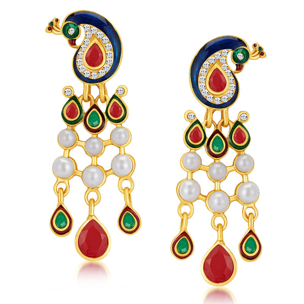 Sukkhi Fabulous Gold Plated Australian Diamond Earrings