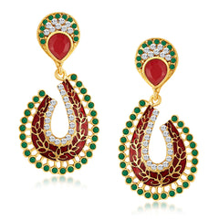 Sukkhi Fascinating Gold Plated Australian Diamond Earrings