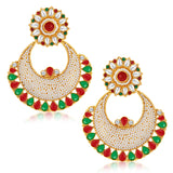 Sukkhi Finely Gold Plated Australian Diamond Earrings