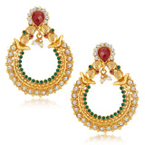 Sukkhi Graceful Gold Plated Australian Diamond Earrings