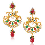 Sukkhi Marquise Gold Plated Earrings