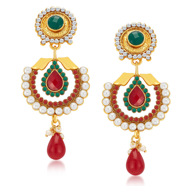 Sukkhi Modish Gold Plated Earrings