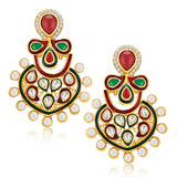 Sukkhi Modern Gold Plated Earrings