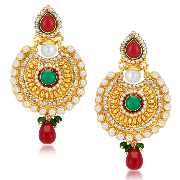 Sukkhi Pleasing Gold Plated Earrings