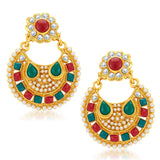 Sukkhi Shimmering Gold Plated Earrings