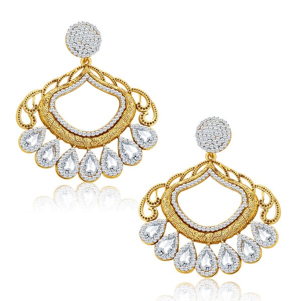 Sukkhi Finely Gold Plated AD Earrings For Women
