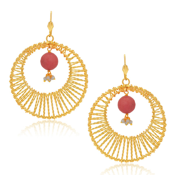 Sukkhi Eye-Catchy Gold Plated Earrings For Women