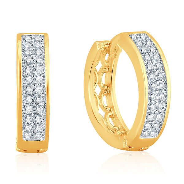 Pissara Exotic Gold Plated Micro Pave Setting CZ Earrings