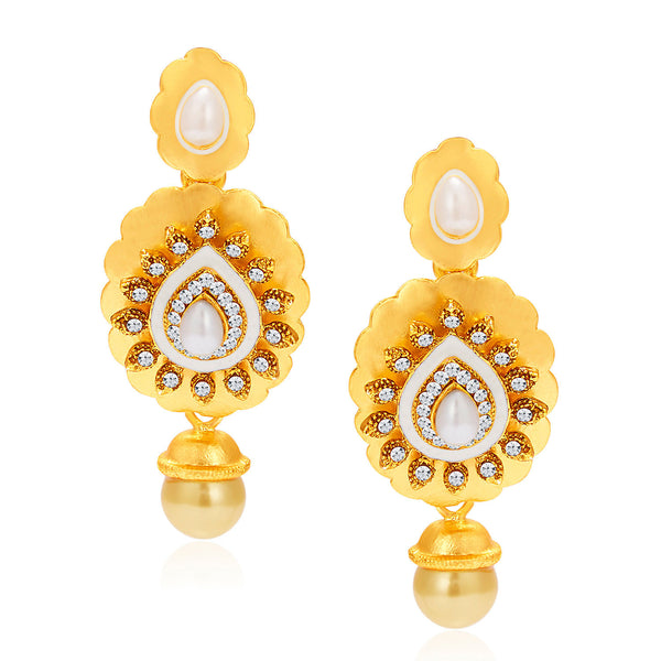 Sukkhi Intricately Gold Plated AD Earring For Women