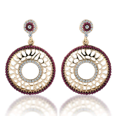 Sukkhi Bewitching Gold Plated AD Earring For Women