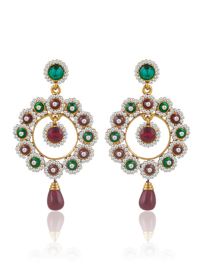 Sukkhi Beguiling Gold Plated AD Earring For Women