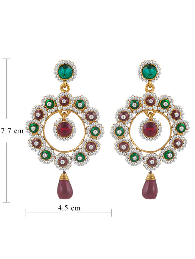 Sukkhi Beguiling Gold Plated AD Earring For Women-1