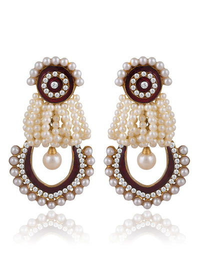 Sukkhi Glistening Gold Plated AD Earring For Women