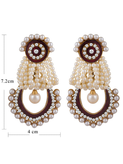 Sukkhi Glistening Gold Plated AD Earring For Women-1
