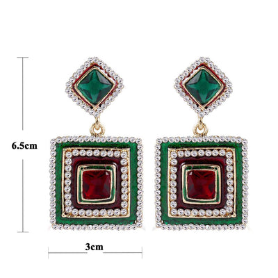 Sukkhi Alluring Meenakari Gold Plated AD Earring For Women-1