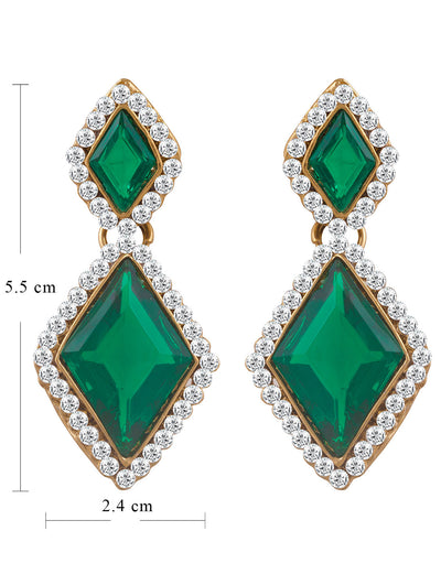 Sukkhi Classic Gold Plated AD Earring For Women-1