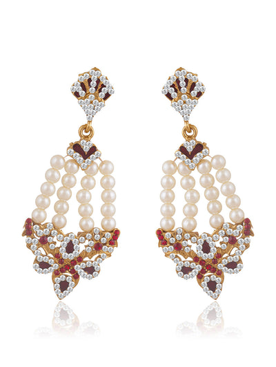 Sukkhi Appealing Gold Plated Pearl Earring For Women