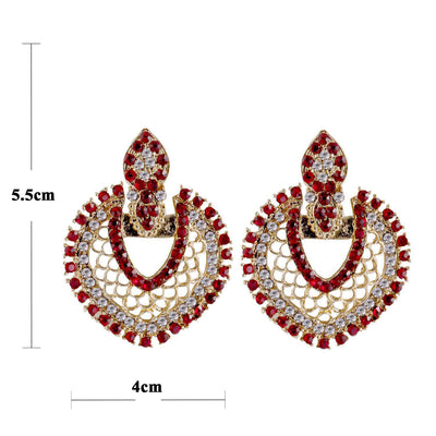 Sukkhi Stylish Gold Plated AD Earring For Women-1