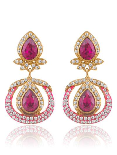 Sukkhi Astonish Gold Plated AD Earring For Women